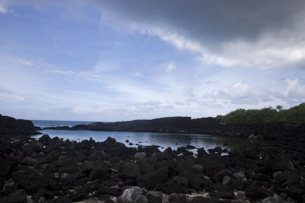 Natural rock pool on the lava coastline of Falealupo peninsula | Falealupo | Samoa