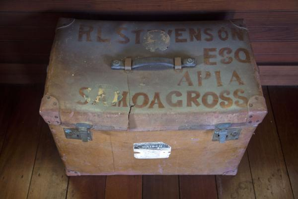 A suitcase with the name of the Scottish author | Robert Louis Stevenson Museum | 萨摩亚群岛