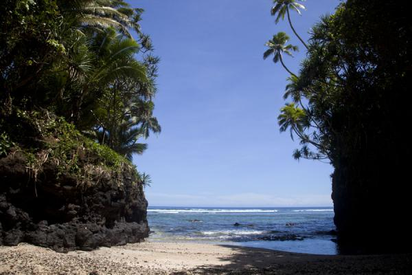 Foto van Narrow beach of To SuaTo Sua - Samoa