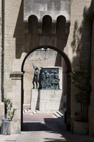 Picture of City gate with Piazza Sant' Agata and statue for the freedom of speech