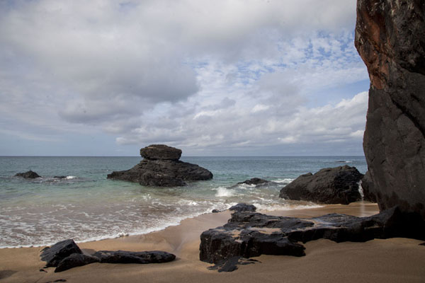 Picture of Banana beach has black volcanic rocks