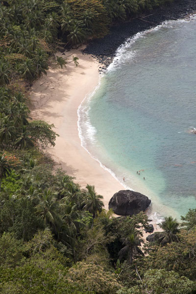 Banana beach seen from the viewpoint off Belo Monte | Belo Monte hike | São Tomé and Príncipe