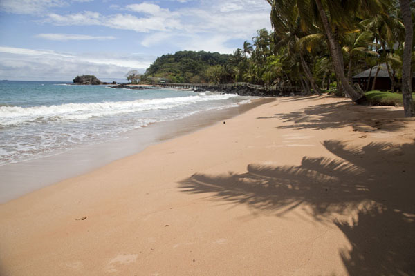 Beach and Bom Bom Island in the background | Bom Bom Island | São Tomé and Príncipe