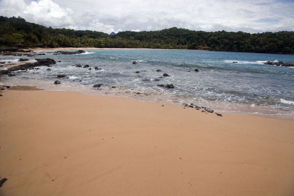 Looking towards the bay across the beach | Bom Bom Island | São Tomé and Príncipe