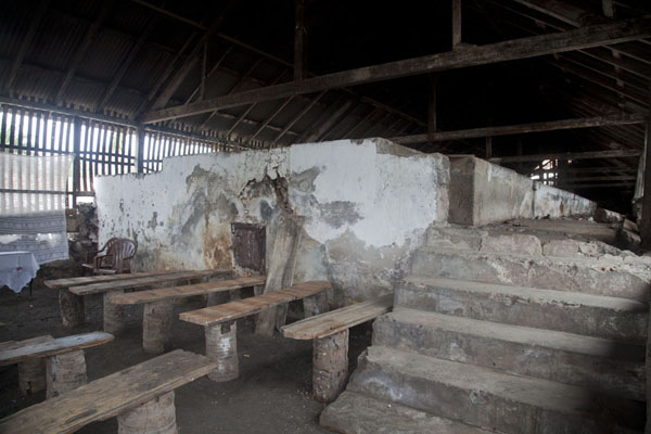 Picture of Roça Monteforte (São Tomé and Príncipe): The broken oven of Roça Monteforte, in which cocoa used to be dried