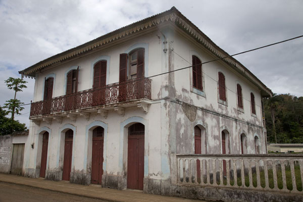 Square white house in Santo Antonio | Santo Antonio | São Tomé and Príncipe