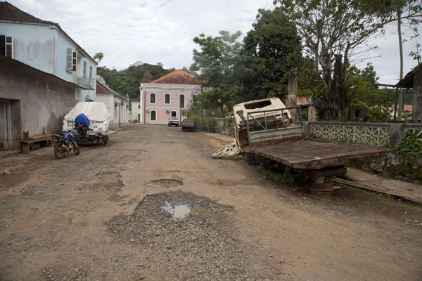 Wrecks of cars and bicycles line the streets of Santo Antonio | Santo Antonio | São Tomé and Príncipe