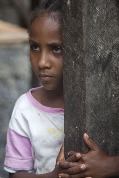 Serious girl at the Roça Monteforte plantation in western São Tomé | Santomean people | São Tomé and Príncipe