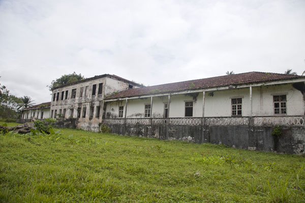 Frontal view of the old hospital of Sundy, once the biggest on the island | Sundy | São Tomé and Príncipe