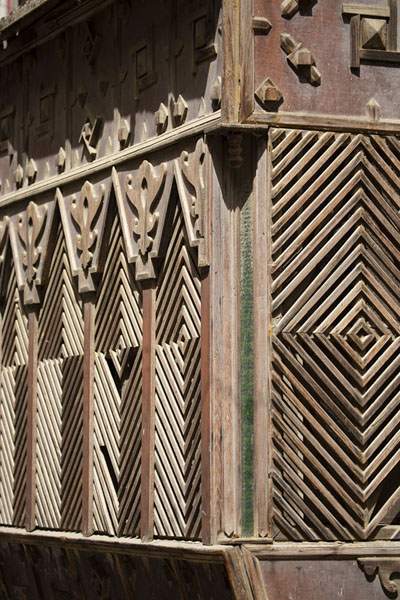 Close-up of a balcony at ground level | Al Balad balconies | Saudi Arabia