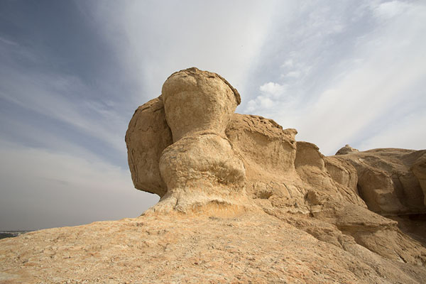 Rock formation on top of the north side of Qara mountain | Al Qara mountain | Saoedi Arabië