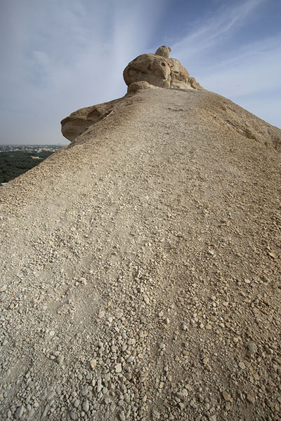 The ridge on top of the north side of Qara mountain | Al Qara mountain | 沙乌地阿拉伯