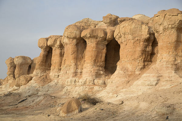 Pilars on the west side of Al Qara mountain | Al Qara mountain | Arabia Saudita