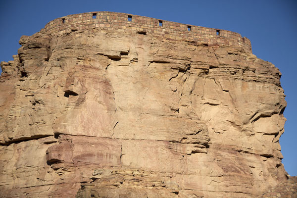 Umm Nasir promontory with the Musa ibn Nusayr fort on top | Al Ula old town | 沙乌地阿拉伯