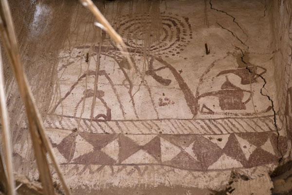 Decoration in one of the houses of the old town of Al Ula | Al Ula oude stad | Saoedi Arabië