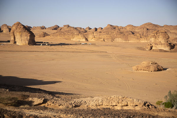 The plain with Elephant Rock east of Al Ula | Al Ula rock formations | Saudi Arabia
