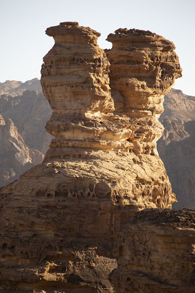 Foto van Rock towers are common in the landscape around Al UlaAl Ula - Saoedi Arabië