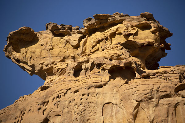 Detail of a rock formation near Elephant Rock | Al Ula rotsformaties | Saoedi Arabië