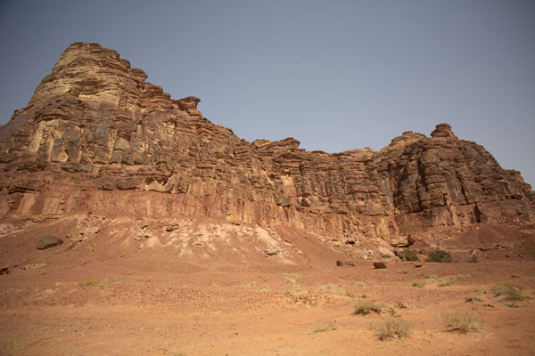 Picture of Jebel Khuraybah, the mountain where the ancient city of Dadan was built by the Lihyanites, seen from the south - Saudi Arabia - Asia