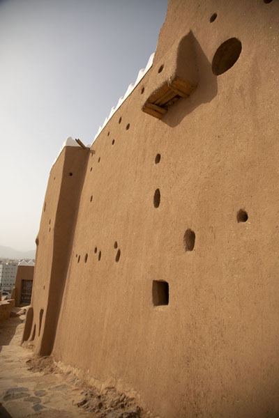 One of the walls of A'arif Fort | Fortalezas de Hail | Arabia Saudita
