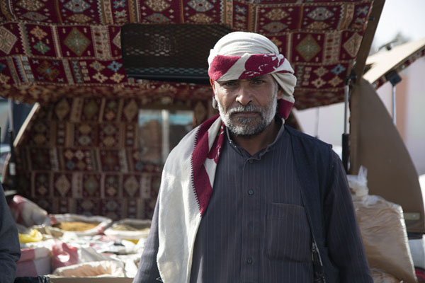 Street vendor posing for a picture | Hail Friday Market | Saudi Arabia