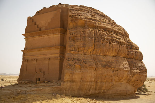Side view of Qasr Farid, the Lonely Castle, far from any other tomb at Mada'in Saleh | Hegra | Saudi Arabia