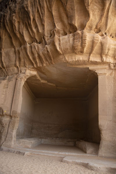 The Diwan, meeting room carved out of Jebel Ithlib, at the entrance to the Siq | Hegra | Saudi Arabia