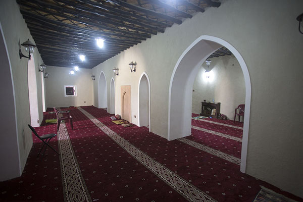 Picture of Interior of Jawatha mosque with carpet-covered floor - Saudi Arabia - Asia