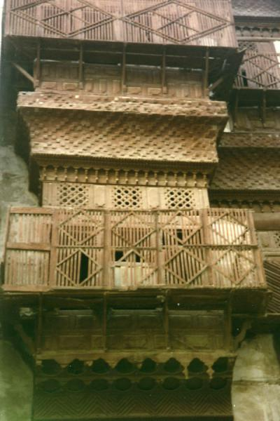 Foto de One of the beautiful wooden balconies of JeddahJeddah - Arabia Saudita