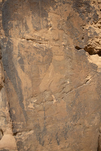 Rock carving depicting a human being | Jubbah petrogliefen | Saoedi Arabië