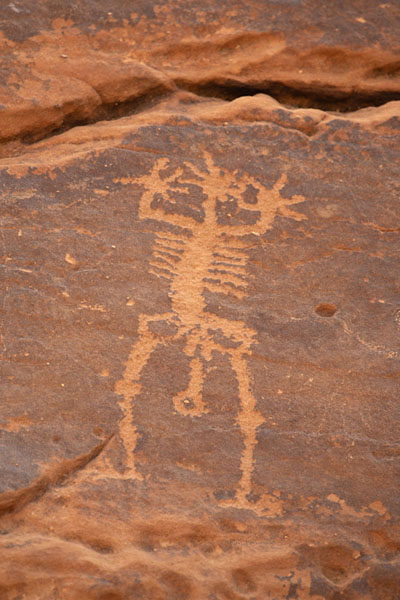 One of the carvings depicting a human being | Pétroglyphes de Jubbah | Arabie Saoudite