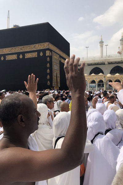 Pilgrims during tawaf, the circumambulation of the Kaaba | Kaaba | 沙乌地阿拉伯