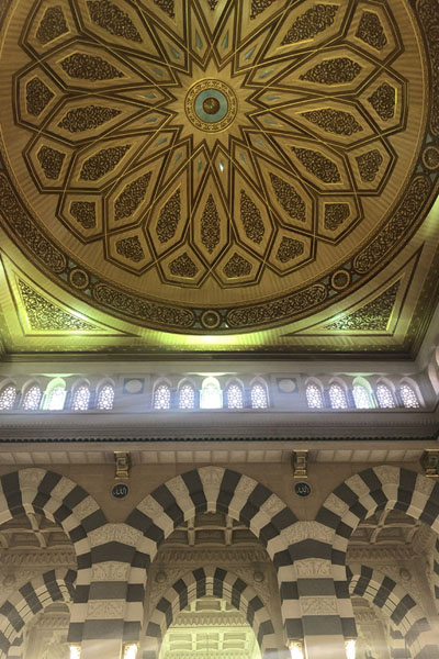 One of the cupolas with arches in the Prophet Mosque | Medina mosques | Saoedi Arabië