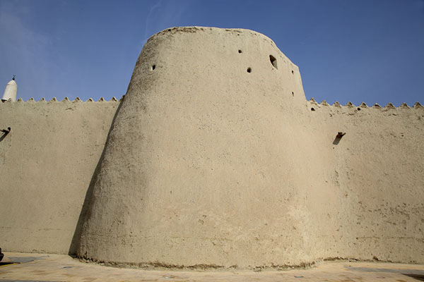 One of the defensive towers of Qasr Ibrahim | Qasr Ibrahim | Arabie Saoudite