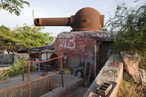 World War II bunker transformed into an art gallery | Ile de Gorée | Senegal