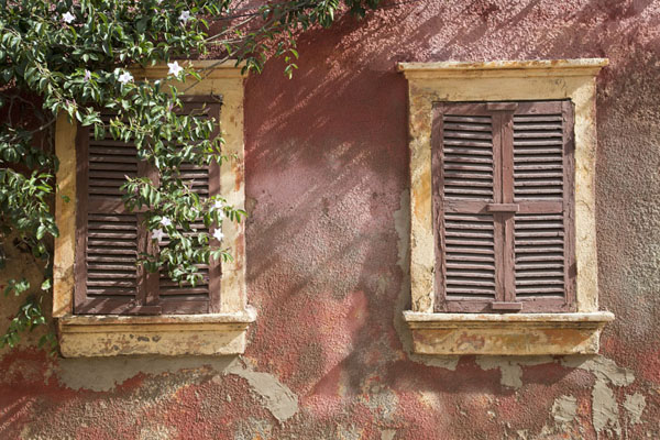Two windows with sunlight | Saint Louis Senegal | Senegal
