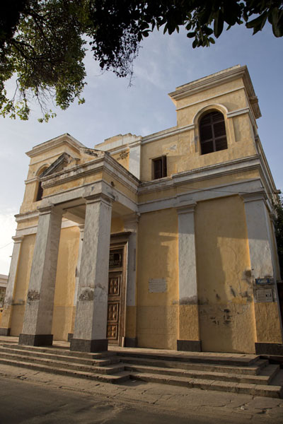 The cathedral of Saint Louis in the early morning sun | Saint Louis Senegal | Senegal