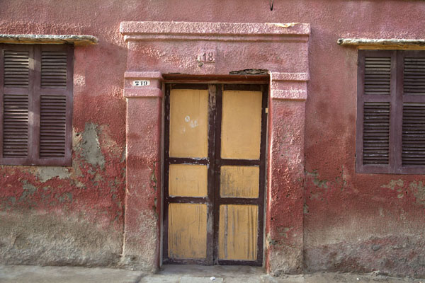Door in a typical house in Saint Louis | Saint Louis Senegal | Senegal