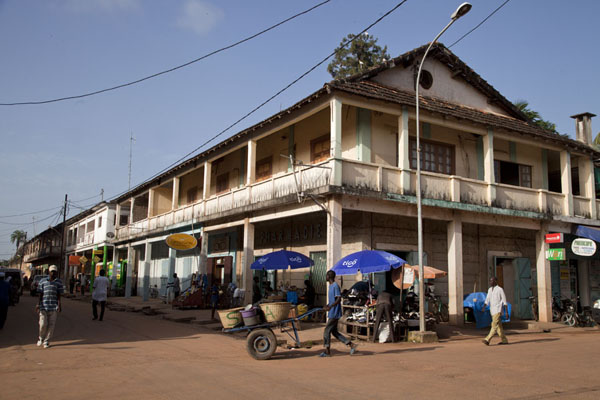 One of the main streets of Ziguinchor in the early morning | Ziguinchor | Senegal