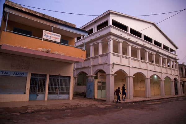 Picture of The main street of Ziguinchor at duskZiguinchor - Senegal