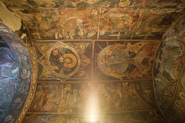 The ceiling of Crna Reka church | Crna Reka monastery | Serbia