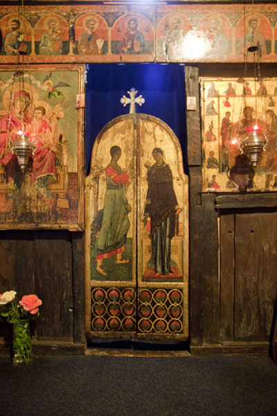 The doors and part of the iconostasis of Crna Reka church | Crna Reka monastery | Serbia