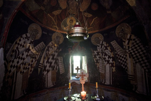 The sanctuary of the church | Crna Reka monastery | Serbia