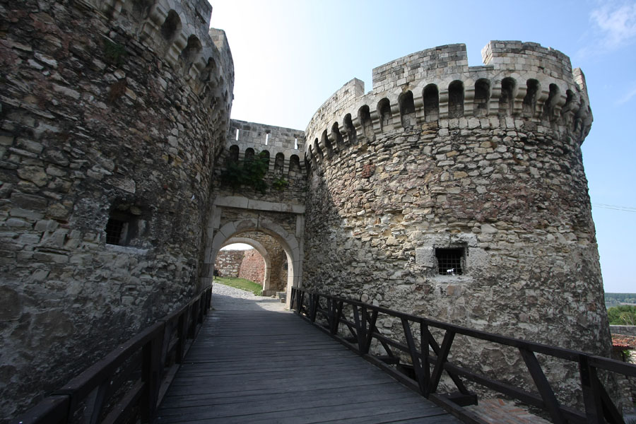 Two sturdy defensive towers of Zindan Gate | Kalemegdan | Serbia