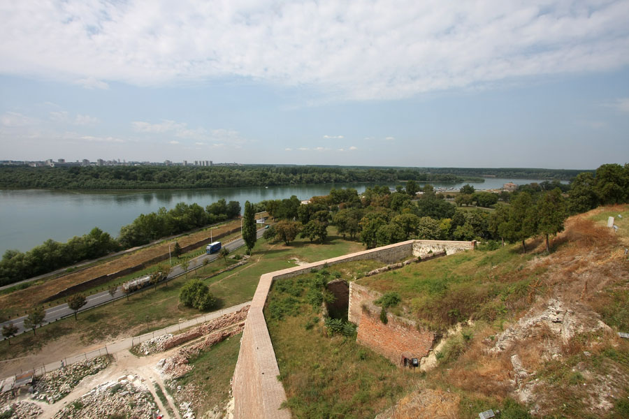 Picture of View over the Sava and Danube river from KalemegdanBelgrade - Serbia