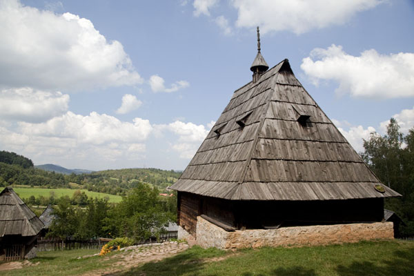 Picture of One of the many traditional buildings in the village museum