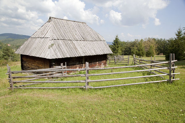 Traditional house in the village museum | Sirogojno village museum | Serbia