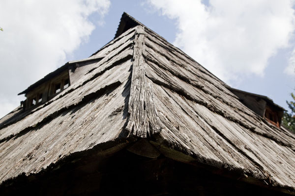 Roof of traditional house in the village museum | Sirogojno village museum | Serbia