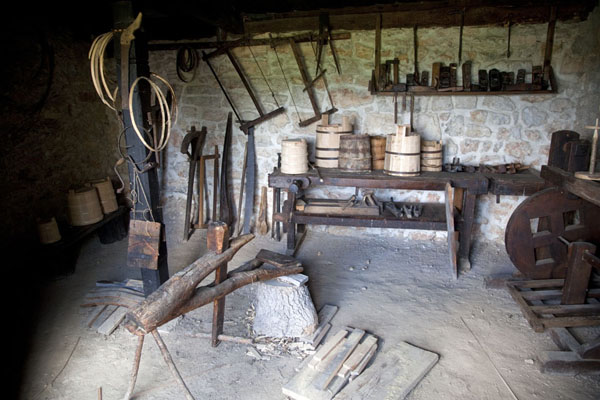 Looking inside one of the many traditional houses on display | Sirogojno village museum | Serbia