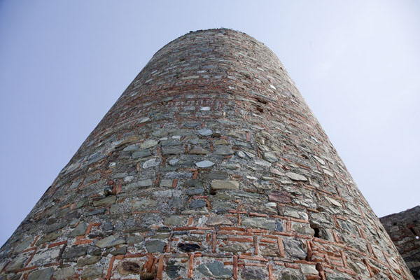 Looking up one of the circular towers of Smederevo Fortress | Smederevo Fortress | Serbia